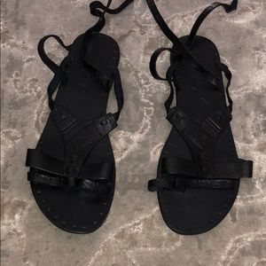 Free People Tie Up Gladiator Shoes